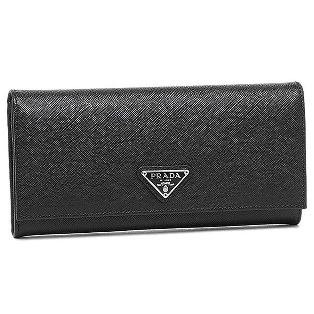 [プラダ] 長財布 レディース PRADA 1MH132 QHH F0632 ブラック [並行輸入品] B06XKSNBJF