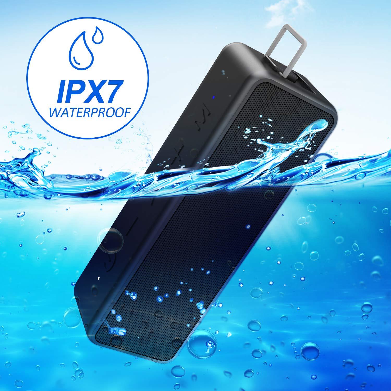 Playa 3 Modos de ecualizaci/ón IPX7 a Prueba de Agua 40W Altavoces inal/ámbricos port/átiles con micr/ófono Altavoz Bluetooth TWS Exteriores 15 Horas de Juego para Fiestas Viajes duchas Azul