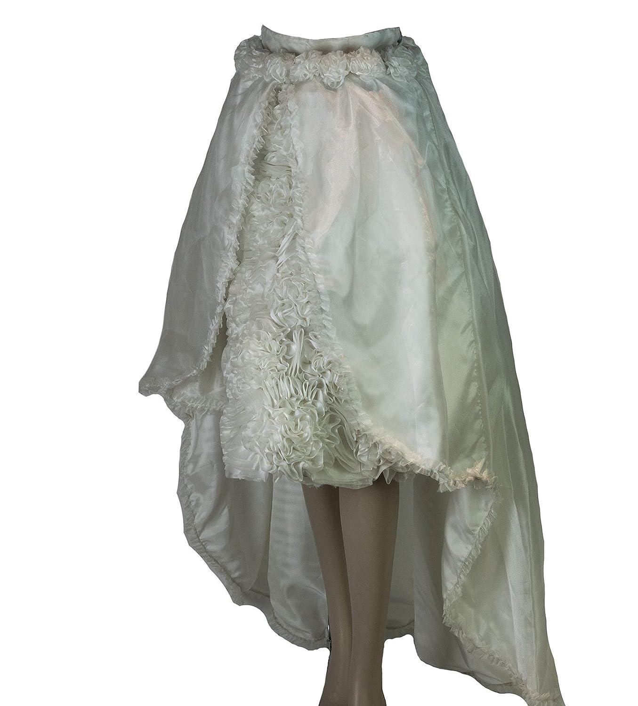 Flores de organza de raso y falda de novia novia/Prom Big Falda ...
