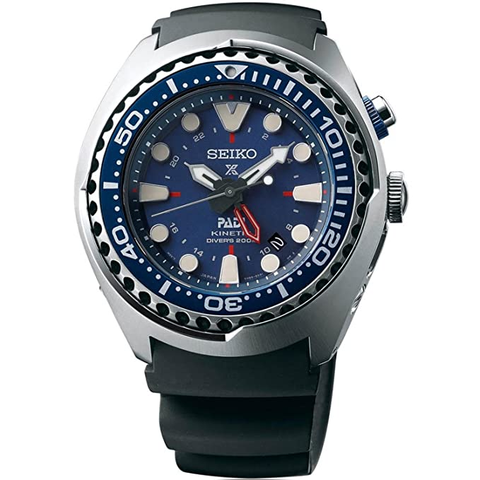 2. Seiko SUN065 Special Edition PADI Kinetic GMT Diver Watch