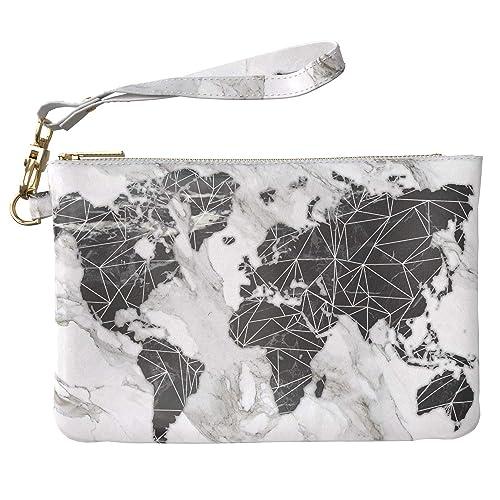 1f5ffb120f00 Lex Altern Makeup Bag 9.5 x 6 inch Gray Texture Marble Black ...