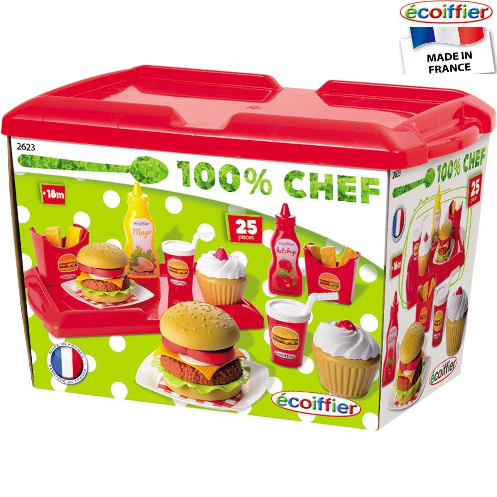 Hamburger Spielset mit 25 Zubehörteilen und Tablett: Spielzeug ...