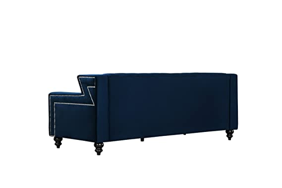 Amazon.com: Meridian Furniture 616Navy-L Harley Collection ...