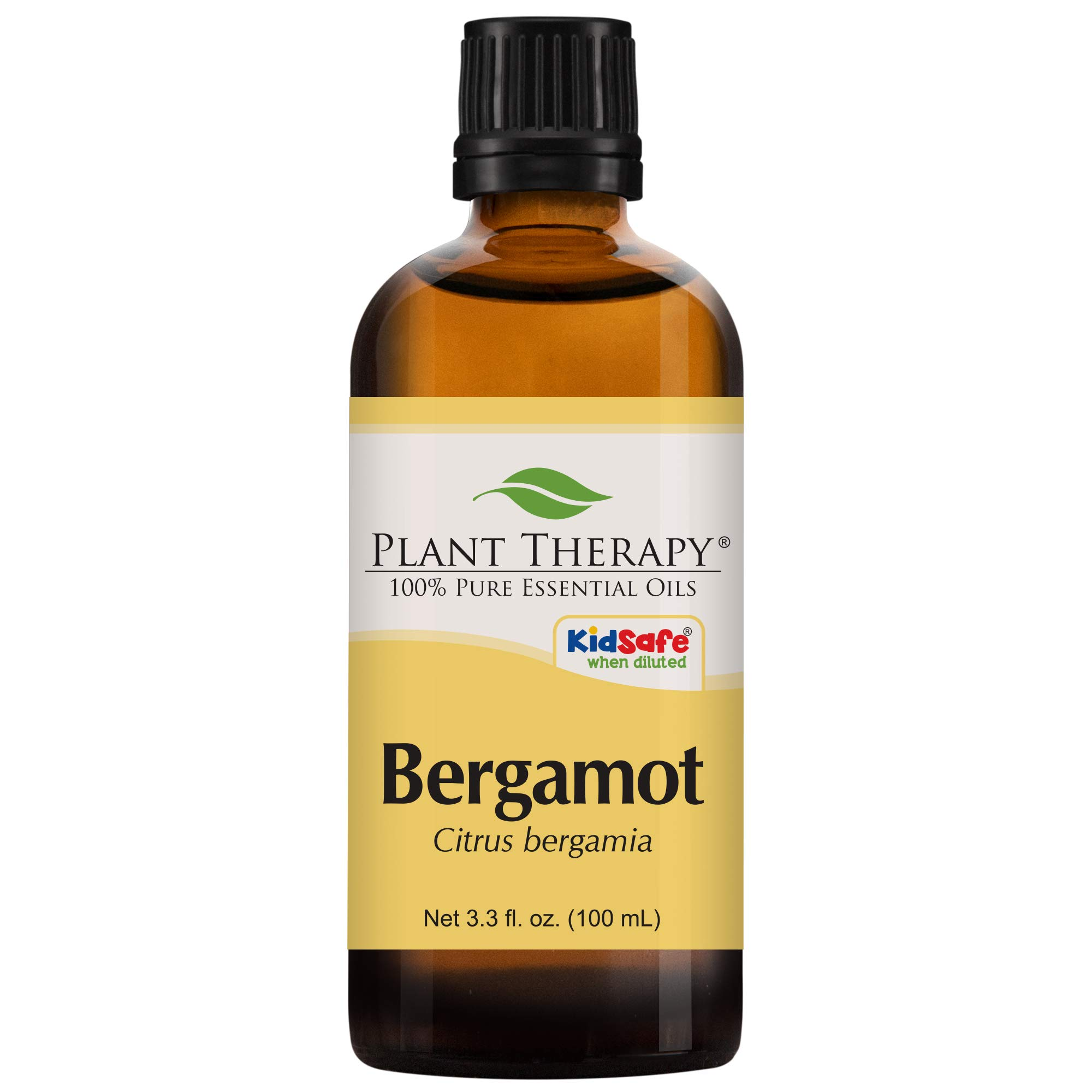 Plant Therapy Bergamot Essential Oil 100% Pure, Undiluted, Natural Aromatherapy, Therapeutic Grade 100 mL (3.3 oz) by Plant Therapy