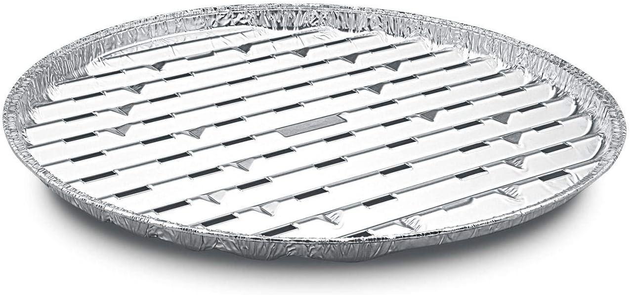 Unbekannt 3 Alu-Tropfschalen passend f/ür den Grill Aluminium-Tropfschalen rund Durchmesser 34cm gro/ß f/ür BBQ Alu-Grillpfanne Grillschalen