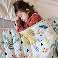 ZonLi Warm Weighted Blanket for Winter (5 lbs, 36''x48'', Elephant), Minky Weighted Blanket for Kids, Soft Minky…
