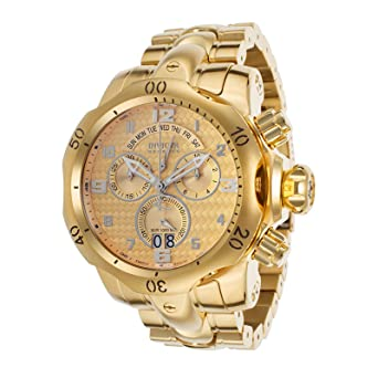 Invicta Mens Venom Swiss Quartz Stainless Steel Casual Watch, Color:Gold-