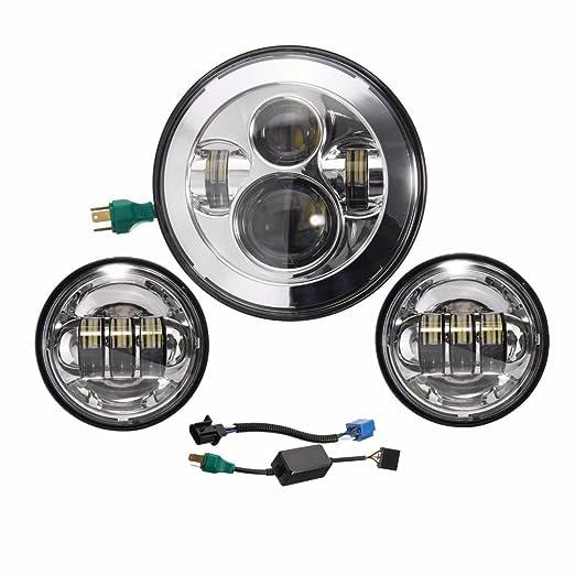 """2 opinioni per Faro anteriore a LED di tipo """"Daymaker+"""" da 17,8cm con luci fendinebbia da"""