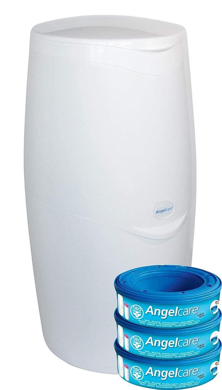 Angelcare para pañales sistema, Azul blanco blanco Talla:Starter Pack DICASPATRIMONI AC2200
