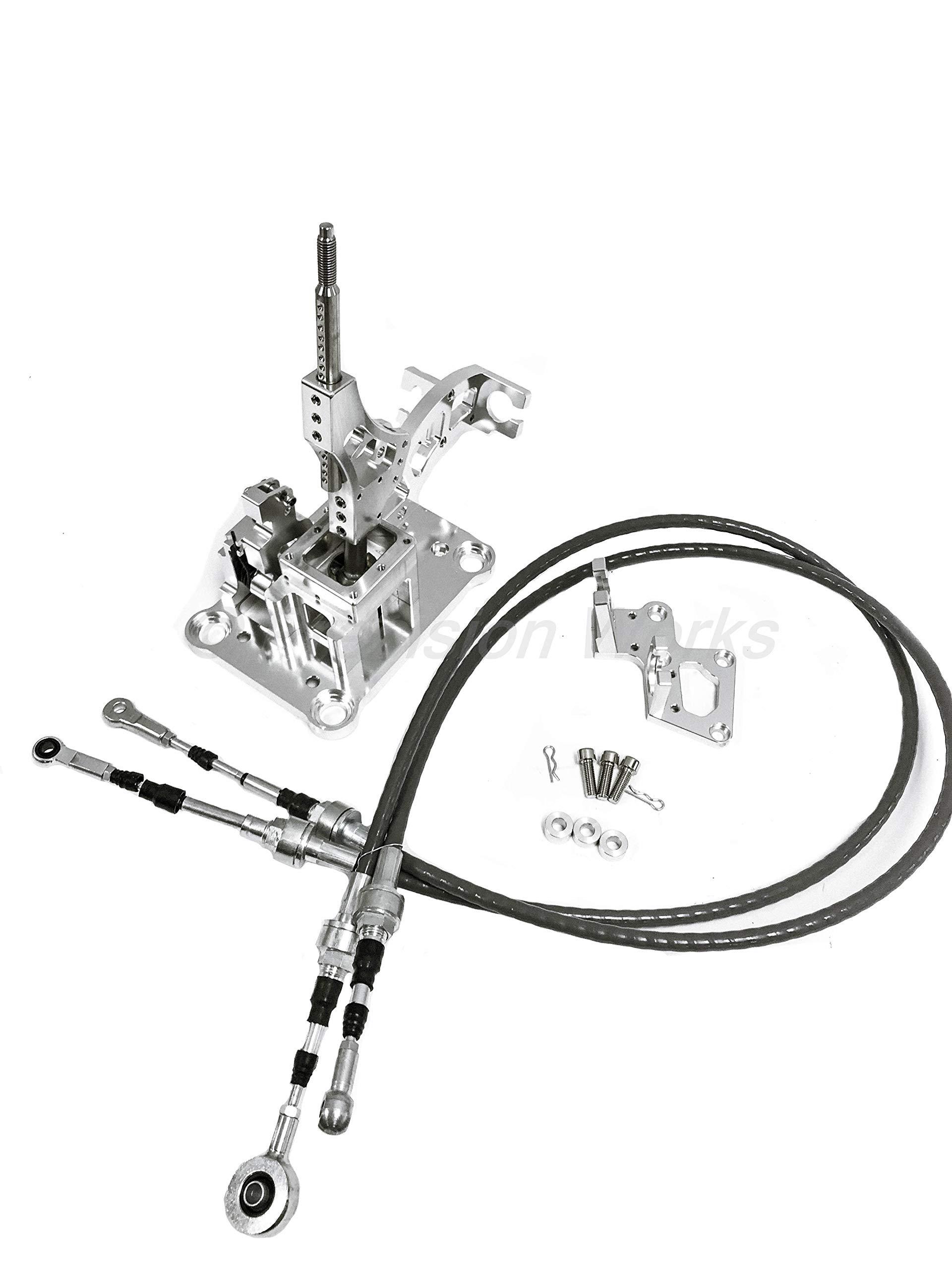 PW RSX Shifter w/Cables & Trans Bracket K20 K24 K Swap Series EG EK DC2 CNC DC5