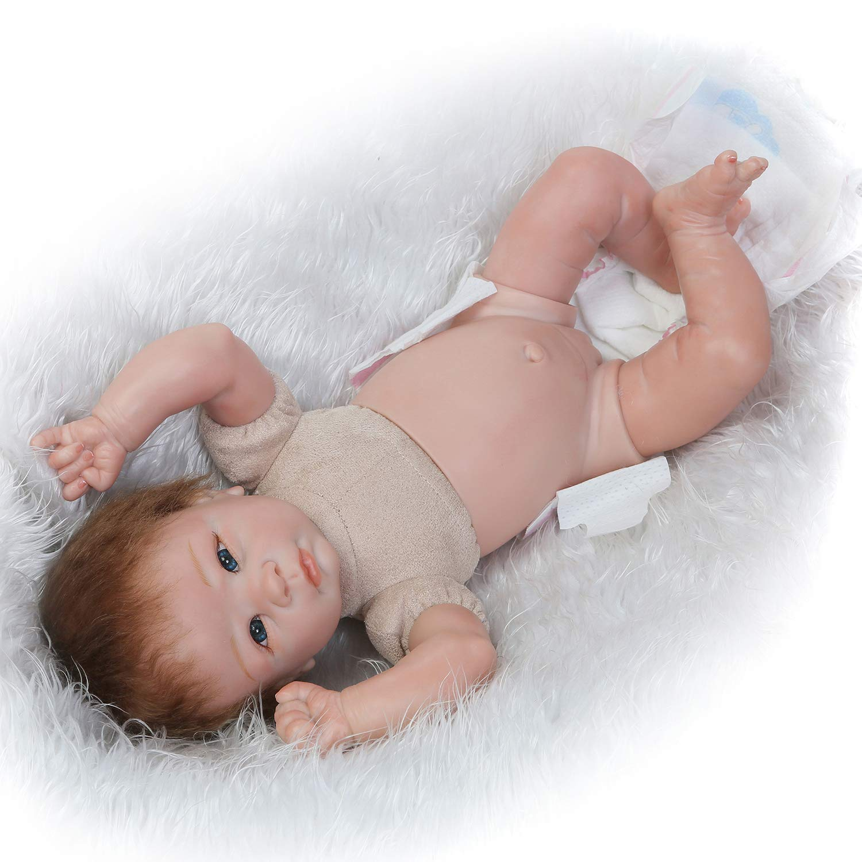 Amazon.com: PURSUEBABY - Muñeca de bebé con chupete, sirena ...