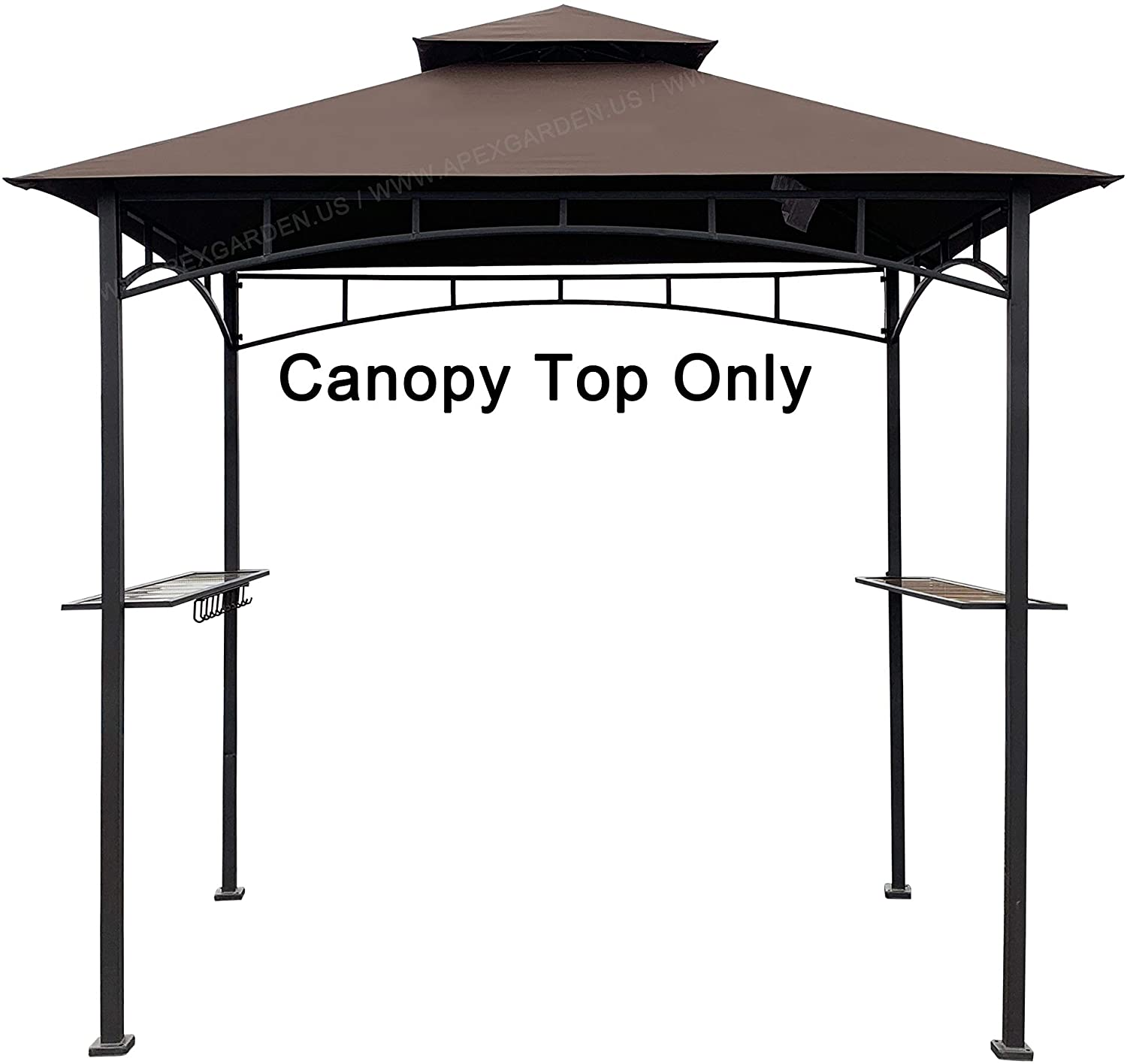 Eurmax 5ft X 8ft Double Tiered Replacement Canopy Grill Bbq Gazebo Roof Top Gazebo Replacement Canopy Roof Beige Gazebos