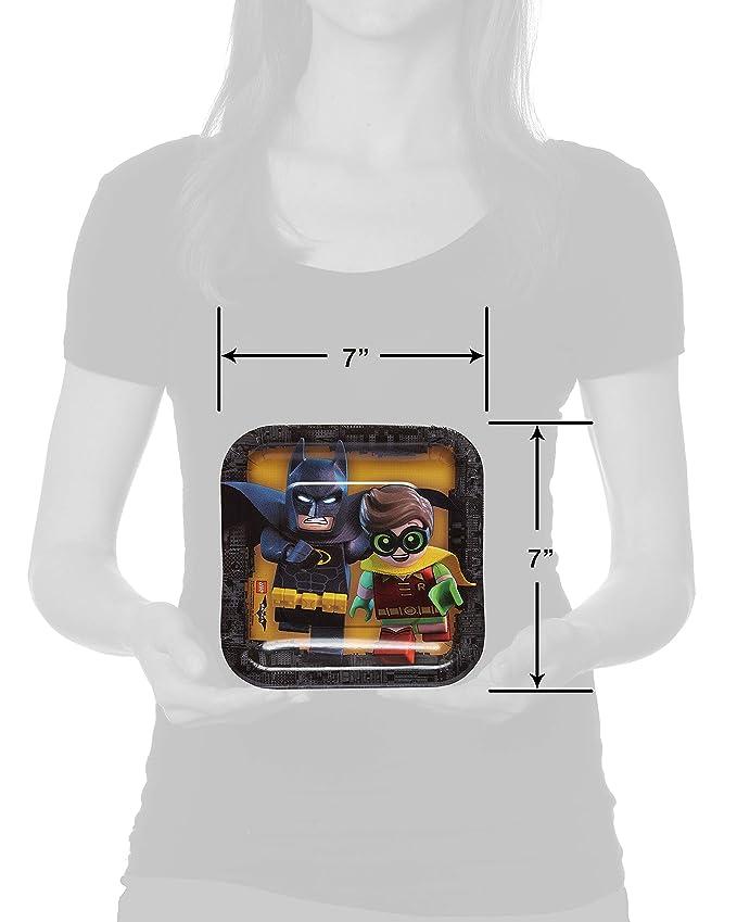 LEGO Batman DC Comics plato de papel, 18 cm.: Amazon.es: Juguetes y juegos