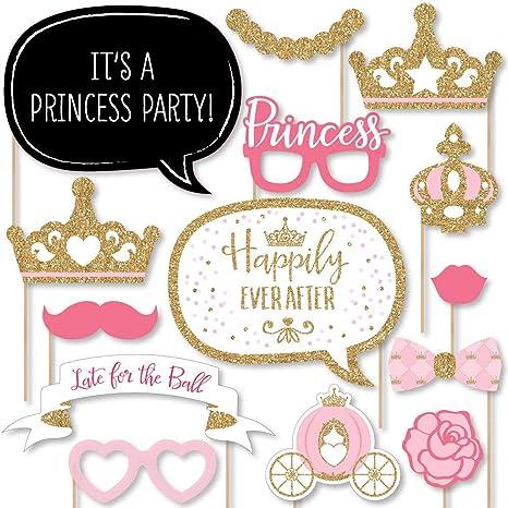 Amazon.com: Little corona de princesa – Rosa y oro princesa ...