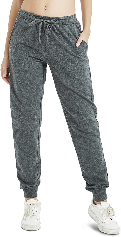 Safort 30//32//34 Inseam Tall Regular Women Casual Sweatpants 3 Pockets 100/% Cotton Jogger Pants