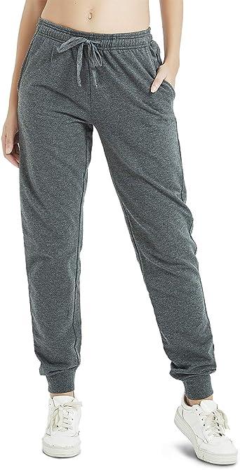 Safort 76cm/81cm/86cm Medidas Largo 100% Algodón Pantalon Chándal para Mujer, Deportivos Pantalones, Jogger Pantalones con 3 Bolsillos: Amazon.es: Ropa y accesorios