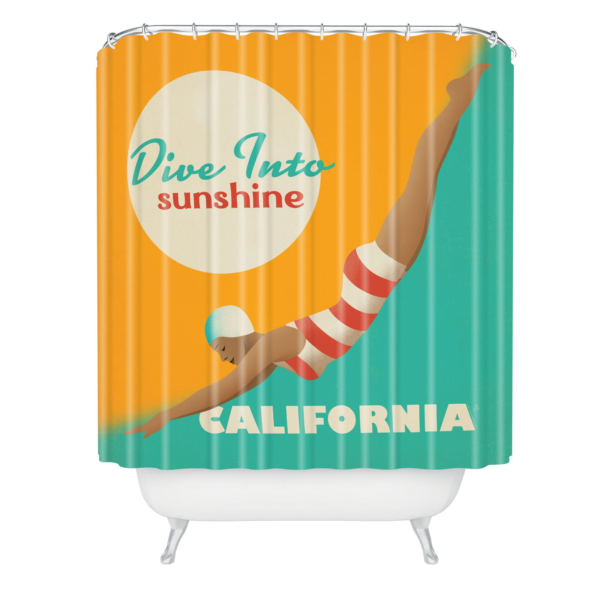 Deny Designs Anderson Design Group Dive California Shower Curtain, 69'' x 72''