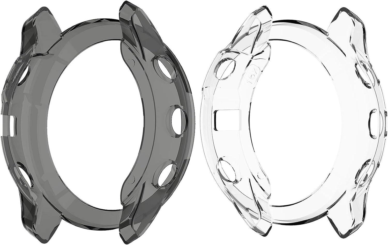 RuenTech - Carcasa Protectora para Garmin Fenix 6X Pro/Fenix 6X Sapphire/Fenix 6X Pro Solar (TPU, antiarañazos)