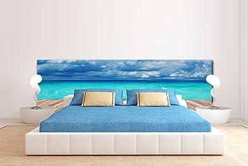 Cabecero Cama PVC Impresión Digital Agua Cristalina Multicolor 150 x 60 cm | Disponible en Varias