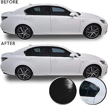 Optix Window Trim Chrome Delete Precut Vinyl Wrap Overlay Kit Compatible with and Fits Infiniti G35 G37 Q40 Sedan 2007-2015 Gloss Black