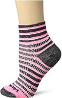 WrightSock Women's Coolmesh II Stripe Quarter Crew Sock