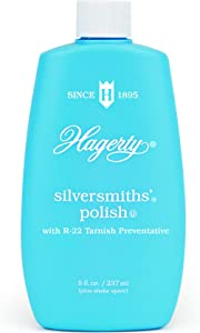 W. J. Hagerty Hagerty 10080 Silversmiths' Silver Polish, 8 Ounces, 8-Ounce, Blue
