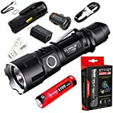 Klarus XT11GT CREE XPH35 HD E4 LED 2000 Lumens 18650 Tactical Rechargeable Flashlight With 3100mah Battery with SkyBen USB Light and Car Charger and Wall Adaptor