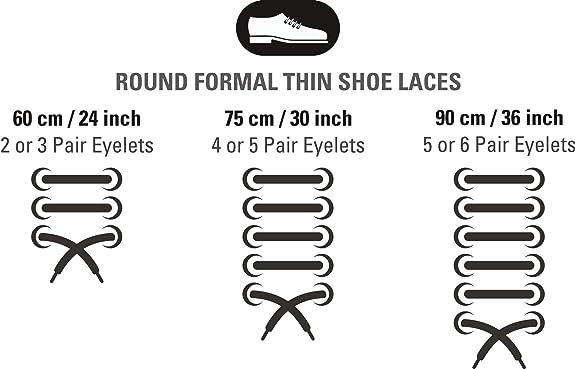 Shoe laces dress round black