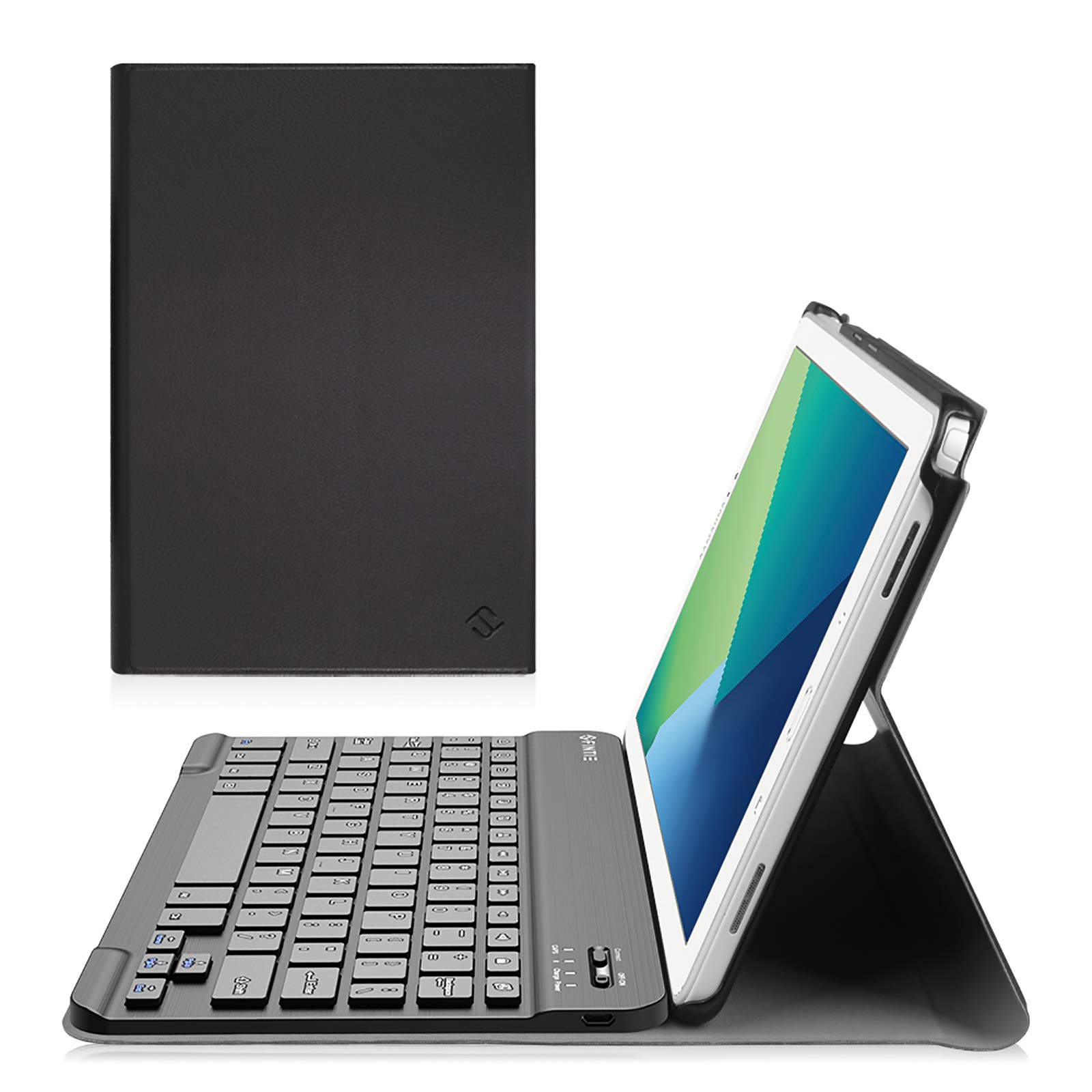 Fintie Keyboard Case for Samsung Galaxy Tab A 10.1 with S Pen 2016, Slim Stand Cover with Detachable Wireless Bluetooth Keyboard for Tab A 10.1 with S Pen(SM-P580/P585), Black