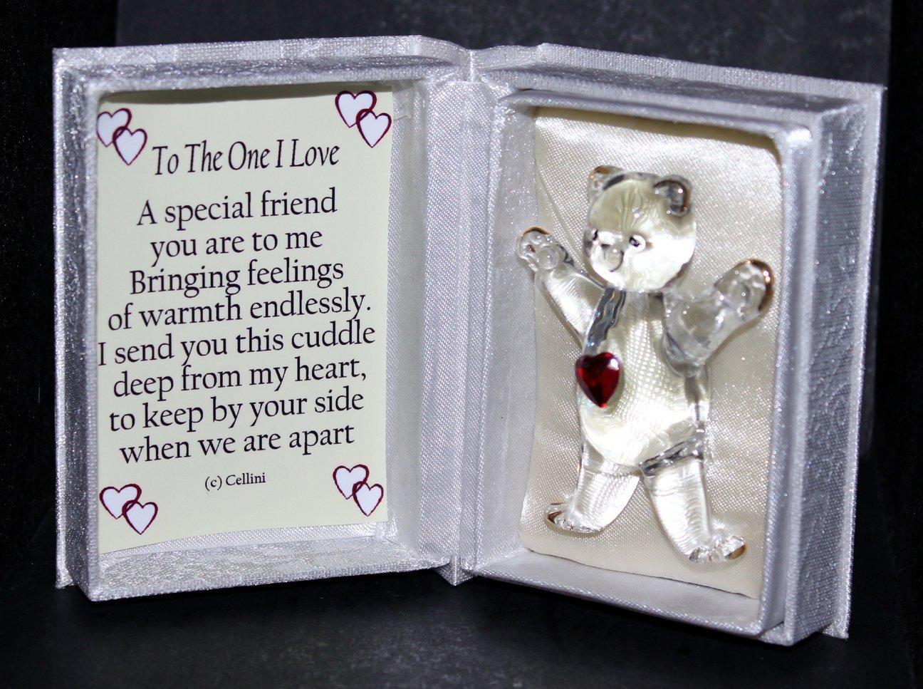 Valentinstag Kristall Glas Teddy Rot Herz Geschenk Für Männer Oder  Frauen... Gedicht Liest One I Love: Amazon.de: Küche U0026 Haushalt