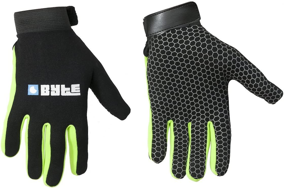 Byte Field Hockey SKINFIT Gloves Black Green Small