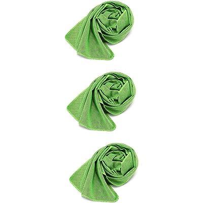 Cool Towel - Pack de 3 toallas de mano para fitness, deporte, correr, enfría el agua y lo almacena.