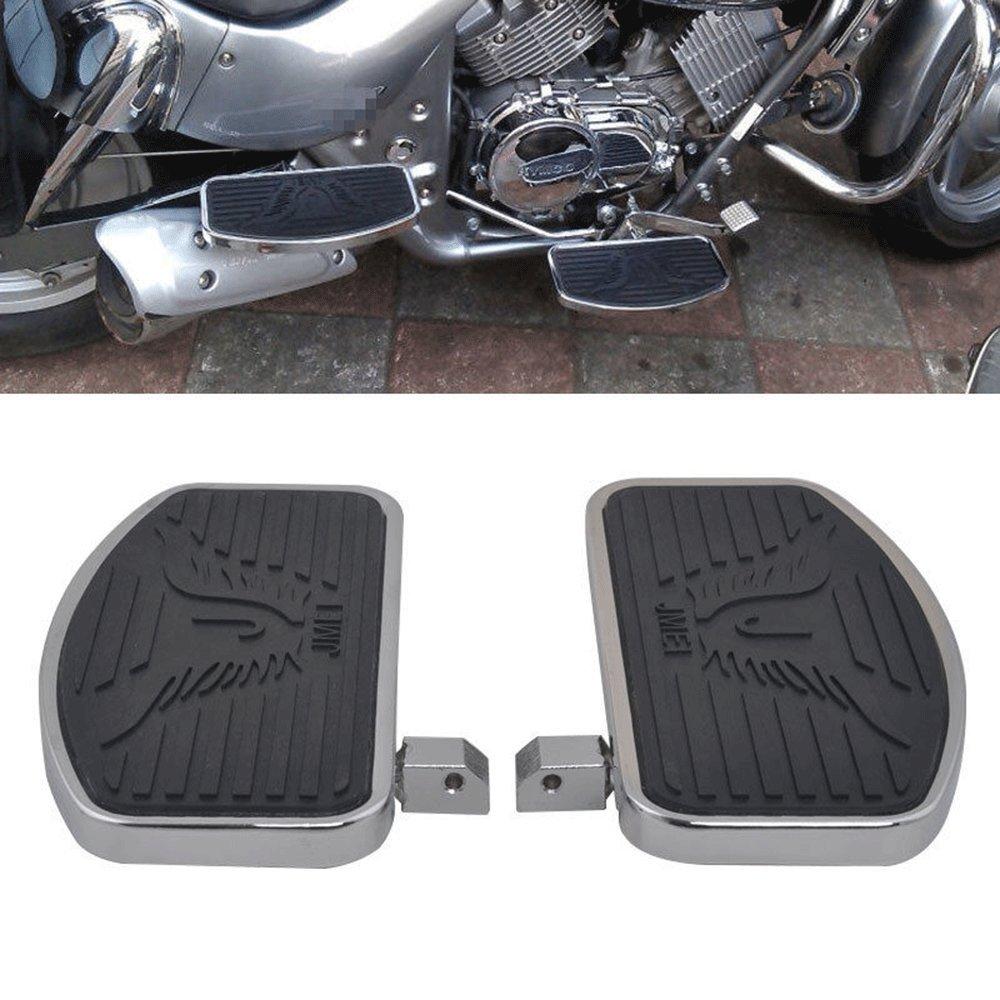 Paire de Repose-pieds Moto Harley Pé dales de frein pour Honda Yamaha Dragstar etc - Noir Double EUST