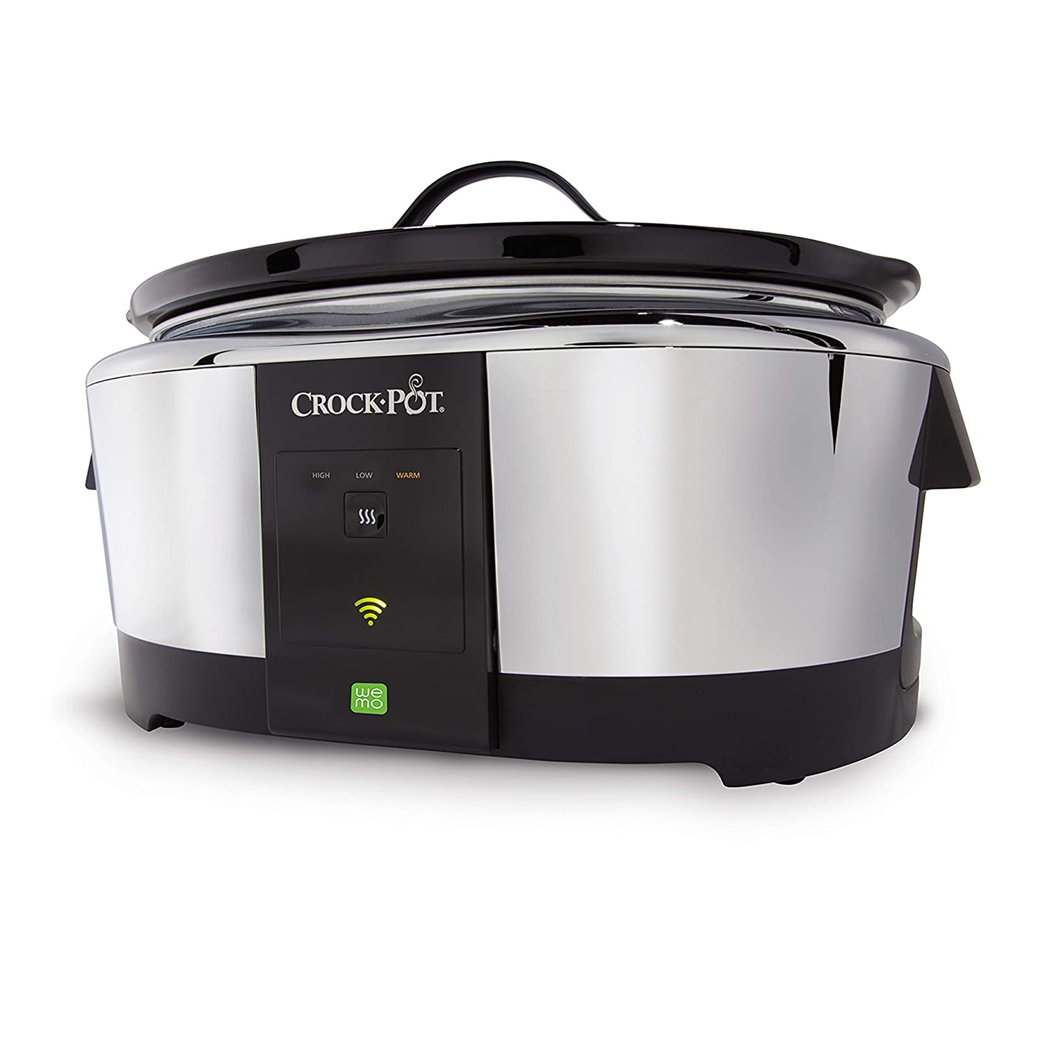 Crock-Pot 6-Quart WeMo-Enabled Smart Slow Cooker, Stainless Steel