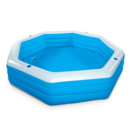 Above Ground Inflatable Pool Inside Familyinflatablepool This Kiddie Blow Up Above Ground Swimming Pool Is Great For Amazoncom