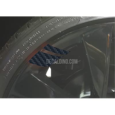 Decaldino Wheel Hash Mark Redline Decals v2 for Silverado + Carbon Fiber: Automotive
