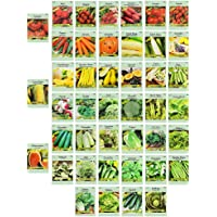 Set of 43 Assorted Vegetable & Herb Seeds - 43 Varieties - Create a Deluxe Garden All Seeds are Heirloom - 100% Non-GMO…