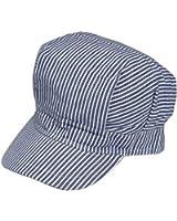 Amazon jacobson hat company adult engineer hatbluewhite adults adjustable train engineer hat pronofoot35fo Gallery
