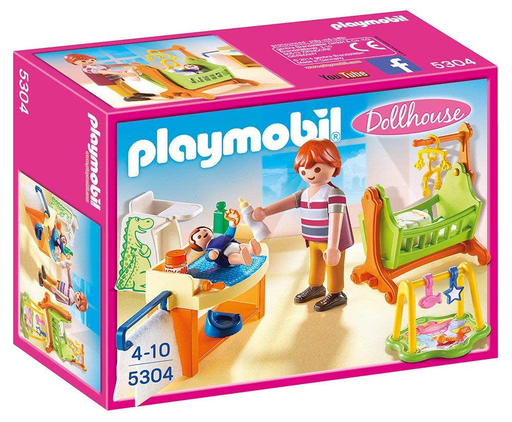 PLAYMOBIL Baby Room with Cradle (Renewed) by Playmobil