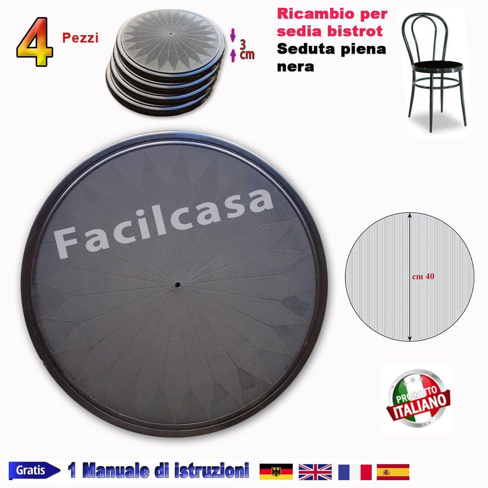 FACILCASA Ricambio in plastica Sedia Vienna Thonet in Metallo (BistrotPienaBian)