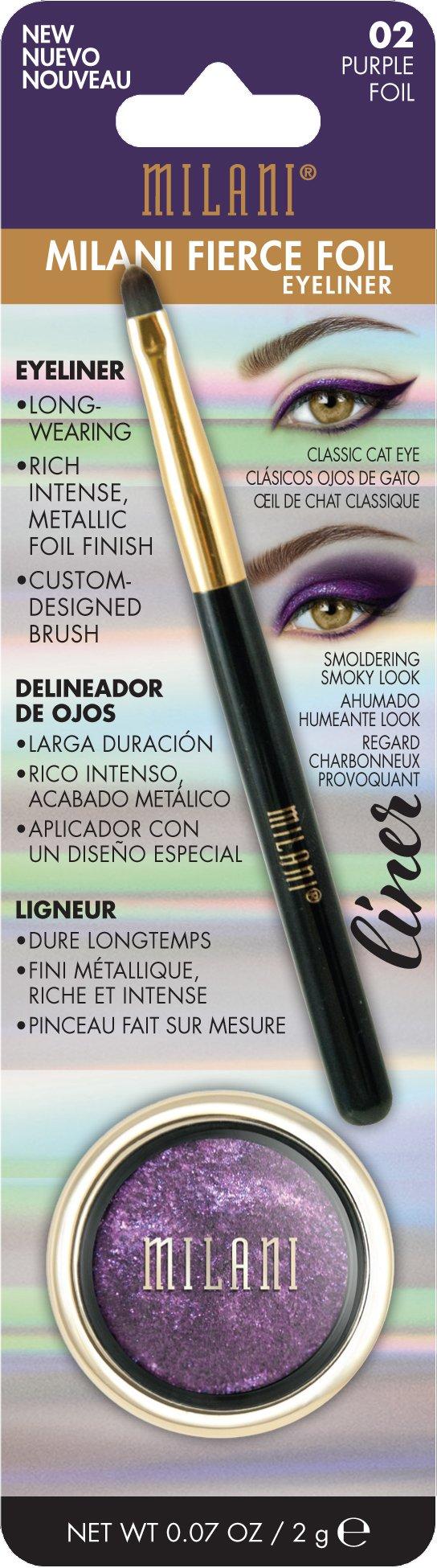 Milani Fierce Foil Eyeliner, Purple Foil, 0.07 Ounce