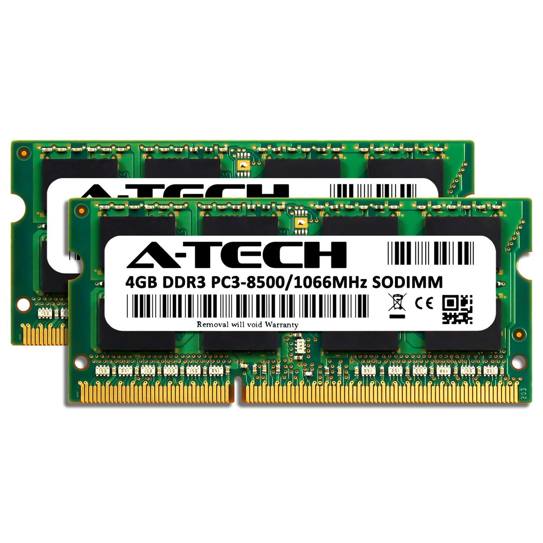 DDR3 1066MHz SODIMM PC3-8500 204-Pin Non-ECC Memory Upgrade Module A-Tech 4GB RAM for ACER Aspire AS5733-6621