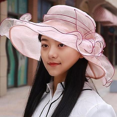 YXLMZ Señoras Mujeres Sombreros Sombreros de Sol Visera Exterior de Verano al Aire Libre, Ligero