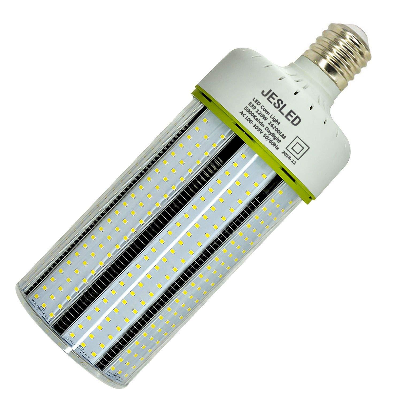JESLED 120W LED Corn Light Bulb - E39 Mogul Base Cob Bulbs, 5000K Daylight 16200LM, 400-600 Watt Equivalent, CFL HPS Metal Halide Lamp Replacement for Garage Warehouse Outdoor Street Area Lighting
