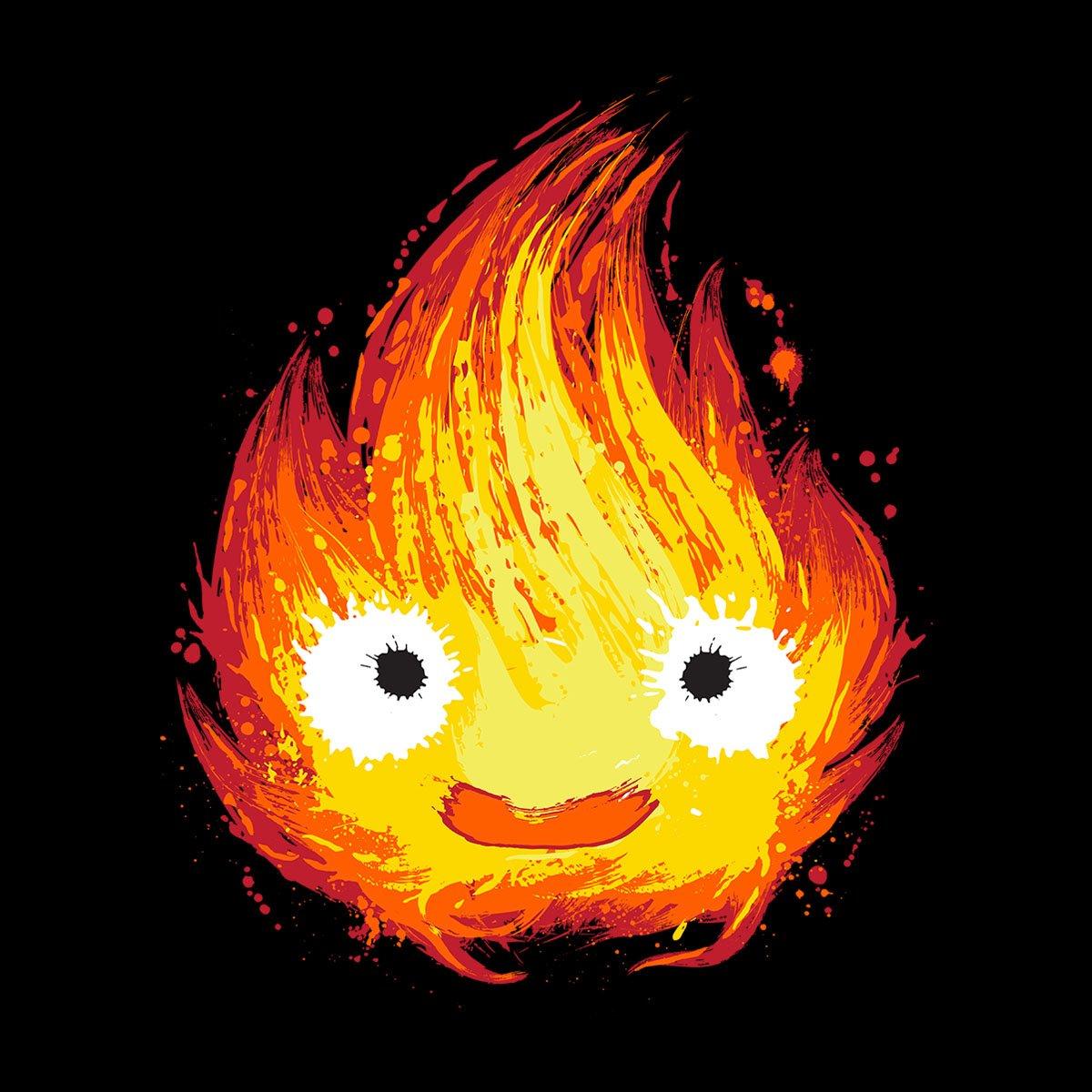 Cloud City 7 Howls Moving Castle Fire Demon Womens Hooded Sweatshirt