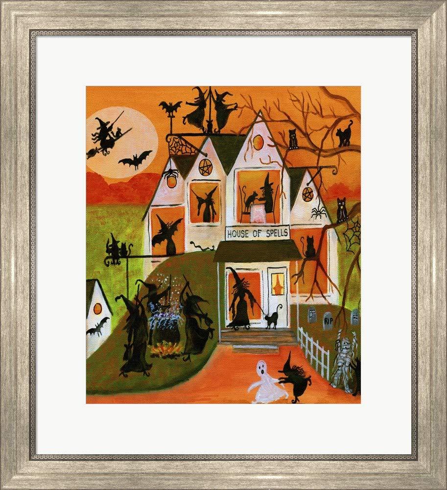Amazoncom Halloween House Spells Cheryl Bartley Framed Art Print