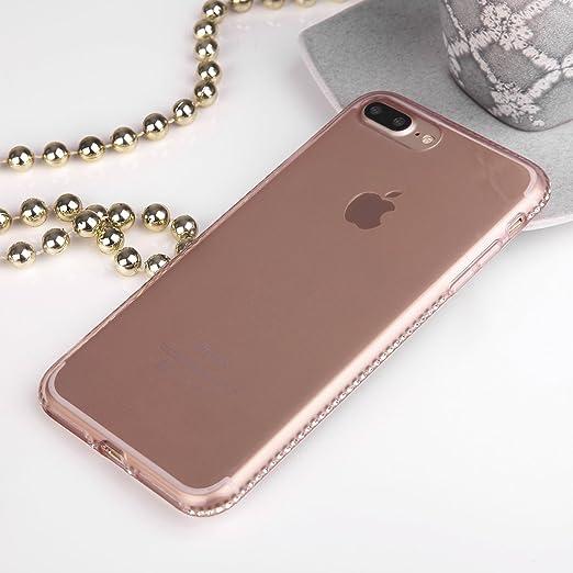 2 opinioni per Ego® Cover in TPU–Strass Glitter Case Diamante per Iphone 7/7Plus con strass