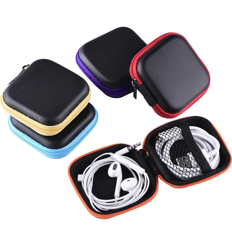 ユニバーサルEvaジッパーヘッドフォンヘッドセットイヤホンMicro USBケーブル電子機器アクセサリーケース各種USB、mp3、充電、ケーブルオーガナイザーポーチ   B075K4JRMQ