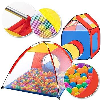 Kidiz Spielzelt Spielhaus Babyzelt 200 Bälle Bällebad Kinderzelt