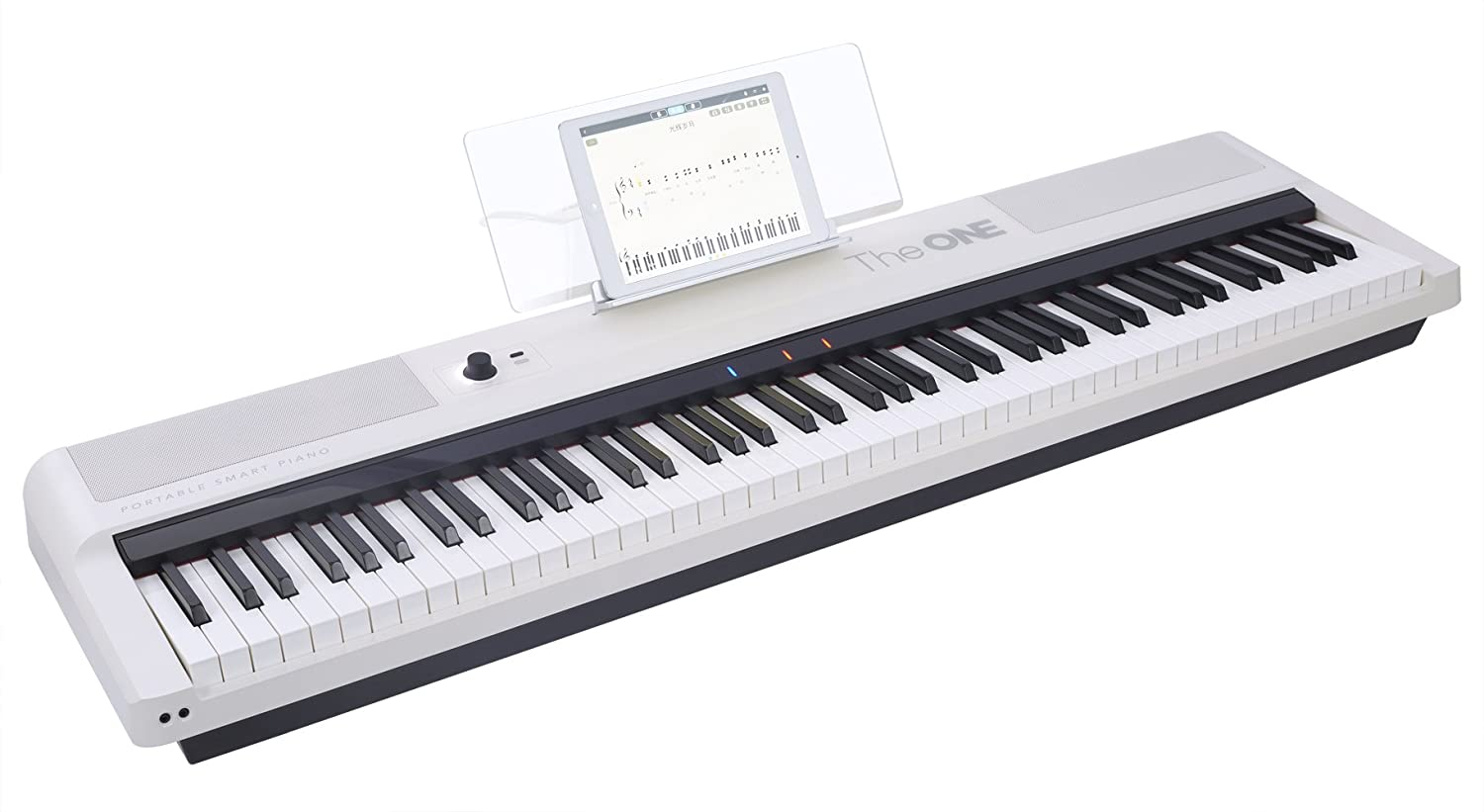 The ONE Smart Keyboard Pro, 88-Key Digital Piano Keyboard, Portable Digital Piano, Weighted Action Keys, White The ONE Music Group TON1W